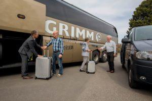 Haustürabholung 2017 2018 First Class Bus Umladen Bus Taxi