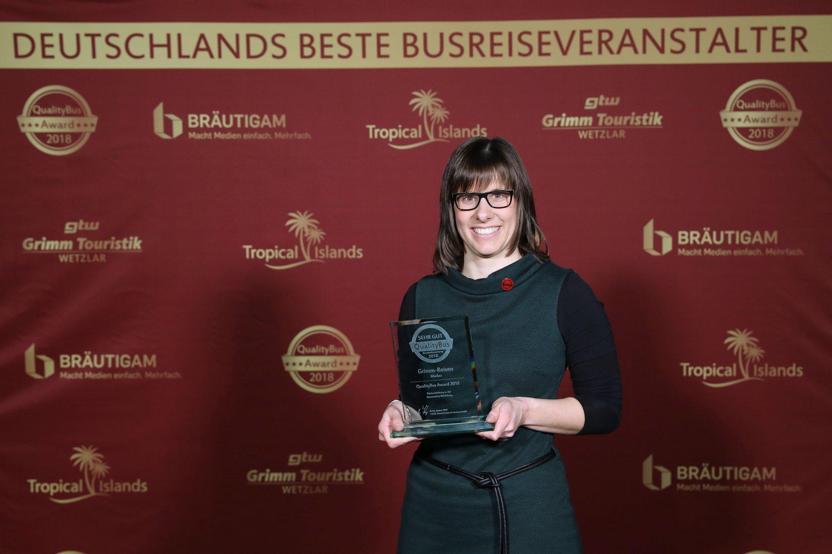 Unsere Kollegin Katharina Schlegel, die den Preis entgegen nehmen durfte.