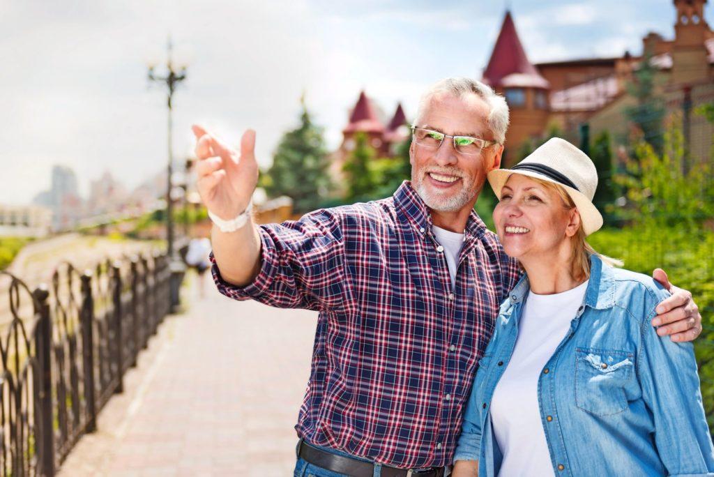 Paar Senioren Urlaub Reise