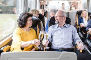 First-Class-Bus - Begrüßungssekt