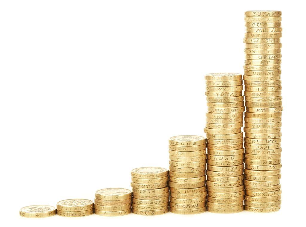 Taler Geld Münze Stapel Sparen
