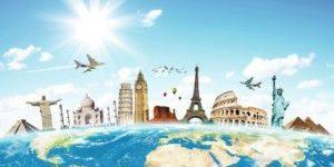 Skyline Weltkarte Sehenswürdigkeiten