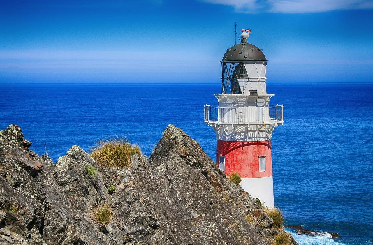 Leuchtturm Licht Meer Küste Felsen Himmel Sicherheit Verischerung