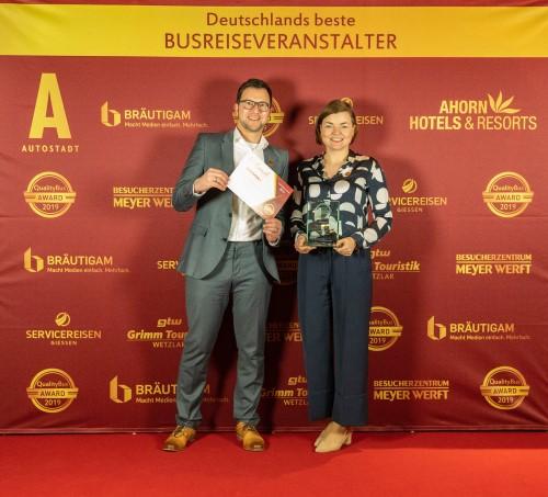 Preisverleihung Quality Bus Award 2019