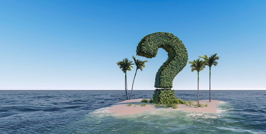 Fragezeichen Insel Reisen