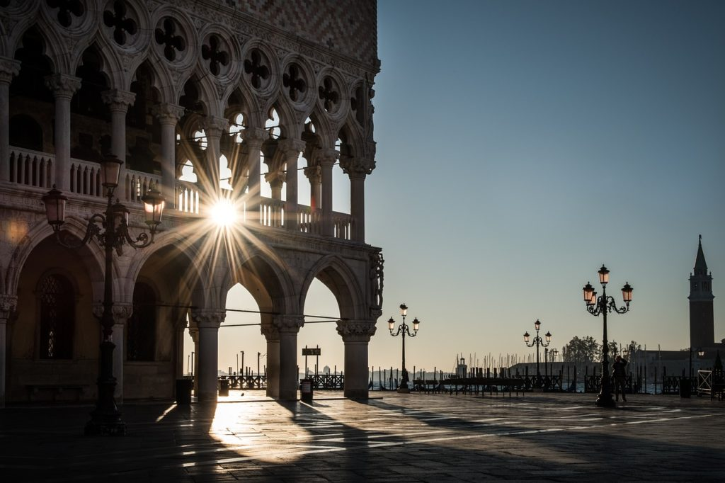 Venedig: Markusplatz im Herbst